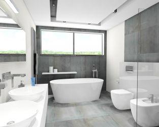 Orzeźwiający minimalizm w jasno-szarej łazience