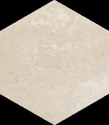Cotto Crema Heksagon   - Beżowy - 260x260 - Płytki podłogowe - Cotto