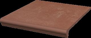 Cotto Naturale Kapinos Stopnica Prosta  - Brązowy - 300x330 - Płytki podłogowe - Cotto