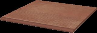 Cotto Naturale Stopnica Prosta   - Brązowy - 300x300 - Płytki podłogowe - Cotto
