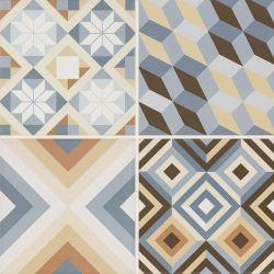 Diamante Colour Gres Szkl. Mat. Mix B  - Wielokolorowe - 400x400 - Płytki podłogowe - Diamante