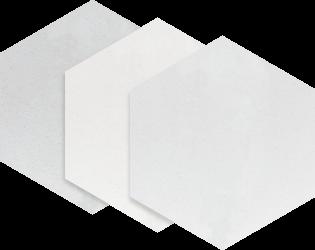 Esagon Concrete Silver Gres Szkl  - Szary - 198x171 - Płytki podłogowe - Esagon