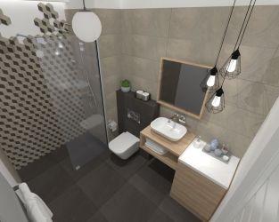 Niewielka łazienka w neutralnych barwach