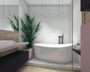Domowe SPA w nowoczesnej małej łazience