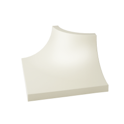 Gamma Bianco Kształtka C Mat.  - Biały - 030x040 - Dekoracje ścienne - Gamma / Gammo