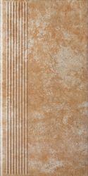 Ilario Ochra Stopnica Prosta - Brązowy - 300x600 - Finishing elements - Ilario