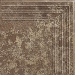 Ilario Brown Stopnica Narożna - Brązowy - 300x300 - напольная плитка - Ilario