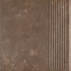 Ilario Brown Stopnica Prosta - Brązowy - 300x300 - напольная плитка - Ilario