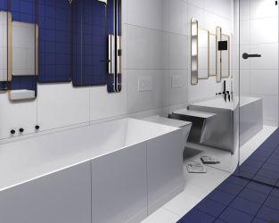 Wyrazista łazienka w kobaltowej odsłonie