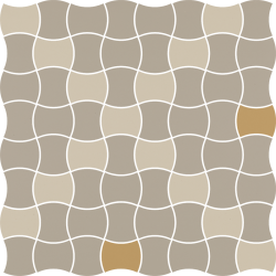 Modernizm Bianco Mozaika Prasowana K.3,6X4,4 Mix D - Biały - 309x309 - Mozaiki - Modernizm