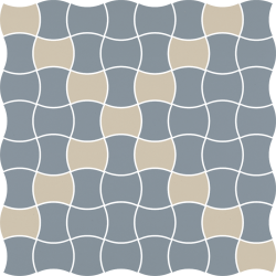Modernizm Blue Mozaika Prasowana K.3,6X4,4 Mix  - Niebieski - 309x309 - Mozaiki - Modernizm