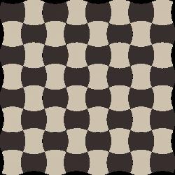 Modernizm Nero Mozaika Prasowana K.3,6X4,4 Mix C - Czarny - 309x309 - Mozaiki - Modernizm