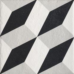 Modern Gres Szkl. Struktura Motyw A  - Wielokolorowe - 198x198 - Fussbodenfliesen - Modern