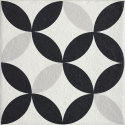 Modern Gres Szkl. Struktura Motyw E  - Wielokolorowe - 198x198 - Płytki podłogowe - Modern