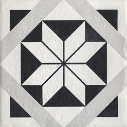 Modern Gres Szkl. Struktura Motyw F  - Wielokolorowe - 198x198 - Płytki podłogowe - Modern