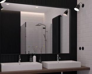 Mała łazienka w bieli i czerni