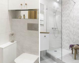 Praktyczne rozwiązania dla małej, jasnej łazienki