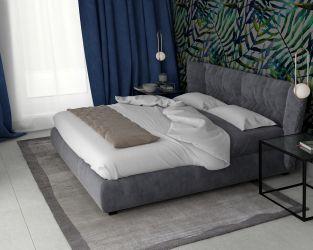 Projekt sypialni z elementami roślinnymi
