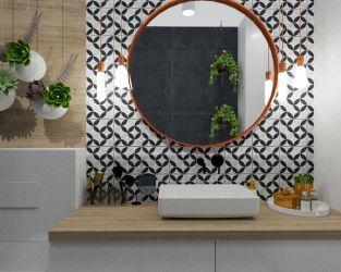 Aranżacja loftowej łazienki w kawalerce