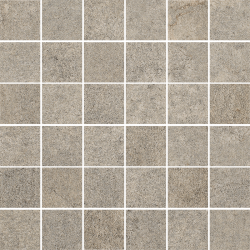 Riversand Umbra Mozaika Cięta K.4,8X4,8 Półpoler - Szary - 298x298 - Dekoracje - Riversand