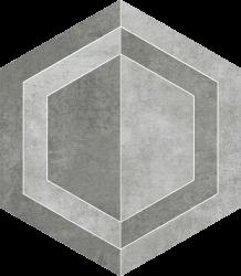 Scratch Grys Heksagon B Mat.  - Szary - 260x298 - Dekoracje - Scratch