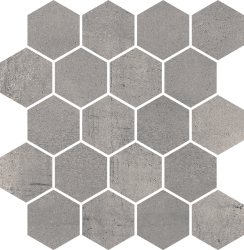 Space Grafit Mozaika Cięta Hexagon Mat - Szary - 258x280 - Decorations - Space