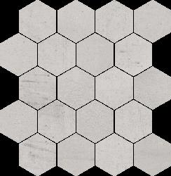 Space Grys Mozaika Cięta Hexagon Mat - Szary - 258x280 - Dekoracie - Space