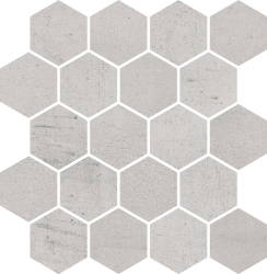 Space Grys Mozaika Cięta Hexagon Poler - Szary - 258x280 - Decorations - Space