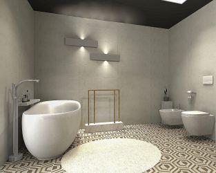 Duża i wygodna łazienka w parterowym domu