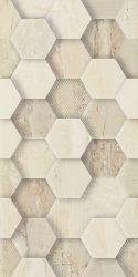 Sunlight Stone Beige Ściana Dekor Geometryk  - Beżowy - 300x600 - Wall tiles - Sunlight / Sun