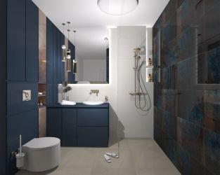 Głębokie i intensywne barwy w eleganckiej łazience