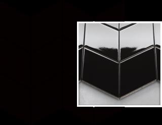 Uniwersalna Mozaika Prasowana Nero Paradyż Romb Braid - Czarny - 205x238 - Płytki elewacyjne - Uniwersalne mozaiki prasowane