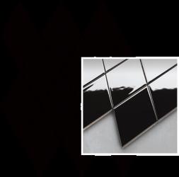 Uniwersalna Mozaika Prasowana Nero Paradyż Romb Pillow - Czarny - 206x237 - Płytki elewacyjne - Uniwersalne mozaiki prasowane