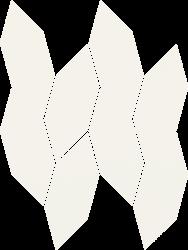 Uniwersalna Mozaika Bianco Paradyż Torton - Biały - 223x298 - Mosaike - Uniwersalne mozaiki cięte
