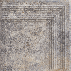 Viano Grys Stopnica Narożna - Szary - 300x300 - Floor tiles - Viano