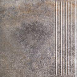 Viano Grys Stopnica Prosta - Szary - 300x300 - Floor tiles - Viano
