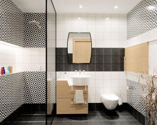 Mała łazienka z ozdobnymi płytkami