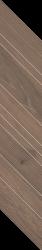 Wildland Dark Dekor Chevron Lewy - Szary - 148x888 - Dekoracie - Wildland