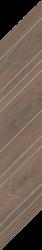 Wildland Dark Dekor Chevron Prawy  - Szary - 148x888 - декорации - Wildland