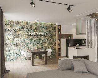 Stylowa sypialnia w ceramicznym drewnie