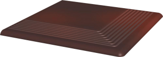 Cloud Brown Stopnica Narożna   - Brązowy - 300x300 - Płytki podłogowe - Cloud