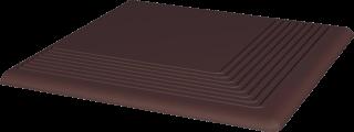 Natural Brown Stopnica Narożna   - Brązowy - 300x300 - Płytki podłogowe - Natural