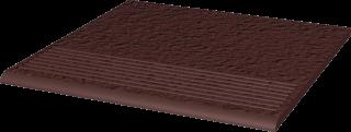 Natural Brown Stopnica Prosta Duro  - Brązowy - 300x300 - Płytki podłogowe - Natural