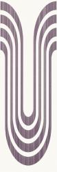 Indy Viola Inserto Fala   - Fioletowy - 250x750 - Dekoracje ścienne - Indy / Indo