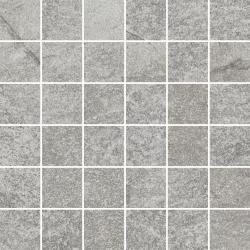 Flash Grys Mozaika Cięta K.4,8X4,8 Mat.  - Szary - 298x298 - Dekoracje - Flash