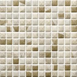 Attiya Beige Mozaika Prasowana K.2,3X2,3 Mix  - Beżowy - 298x298 - Decorations - Attiya