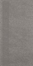 Duroteq Grafit Stopnica Prosta Mat.  - Szary - 298x598 - Floor tiles - Duroteq