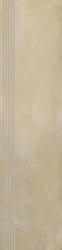 Tigua Beige Stopnica Prosta Nacinana Mat.  - Beżowy - 0,3x1,2 - Płytki podłogowe - Tigua