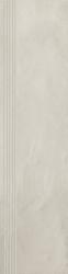 Tigua Bianco Stopnica Prosta Nacinana Mat.  - Biały - 0,3x1,2 - Elementy wykończeniowe - Tigua