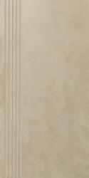 Tigua Beige Stopnica Prosta Nacinana Mat.  - Beżowy - 298x598 - Płytki podłogowe - Tigua